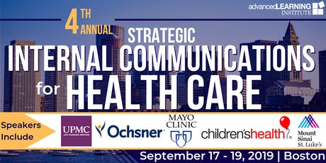 4th Annual Strategic Internal Communications for Health Care tickets