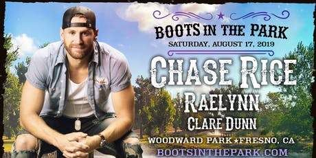 BOOTS IN THE PARK - Fresno with Chase Rice, Raelynn & Clare Dunn tickets
