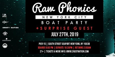 RAW PHONICS Boat Party NYC Yacht Cruise tickets