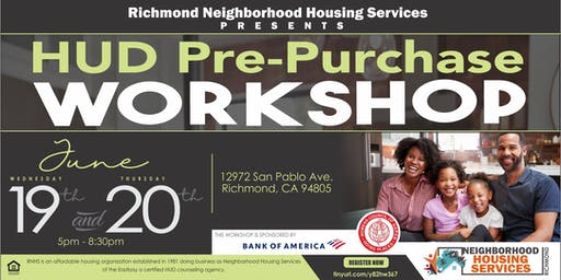HUD  Two Day Pre Purchase Workshop  June 19th & 20th