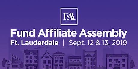 Fund Affiliate Assembly 2019 - Ft. Lauderdale tickets