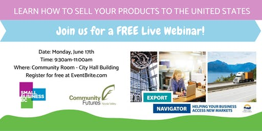 FREE Webinar - Learn How to Sell Your Product to the United States