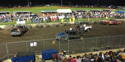 Demo Derby at Columbia County Fair