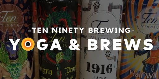 FREE Yoga & Brews presented by CorePower Yoga Glenview and Ten Ninety Brewing