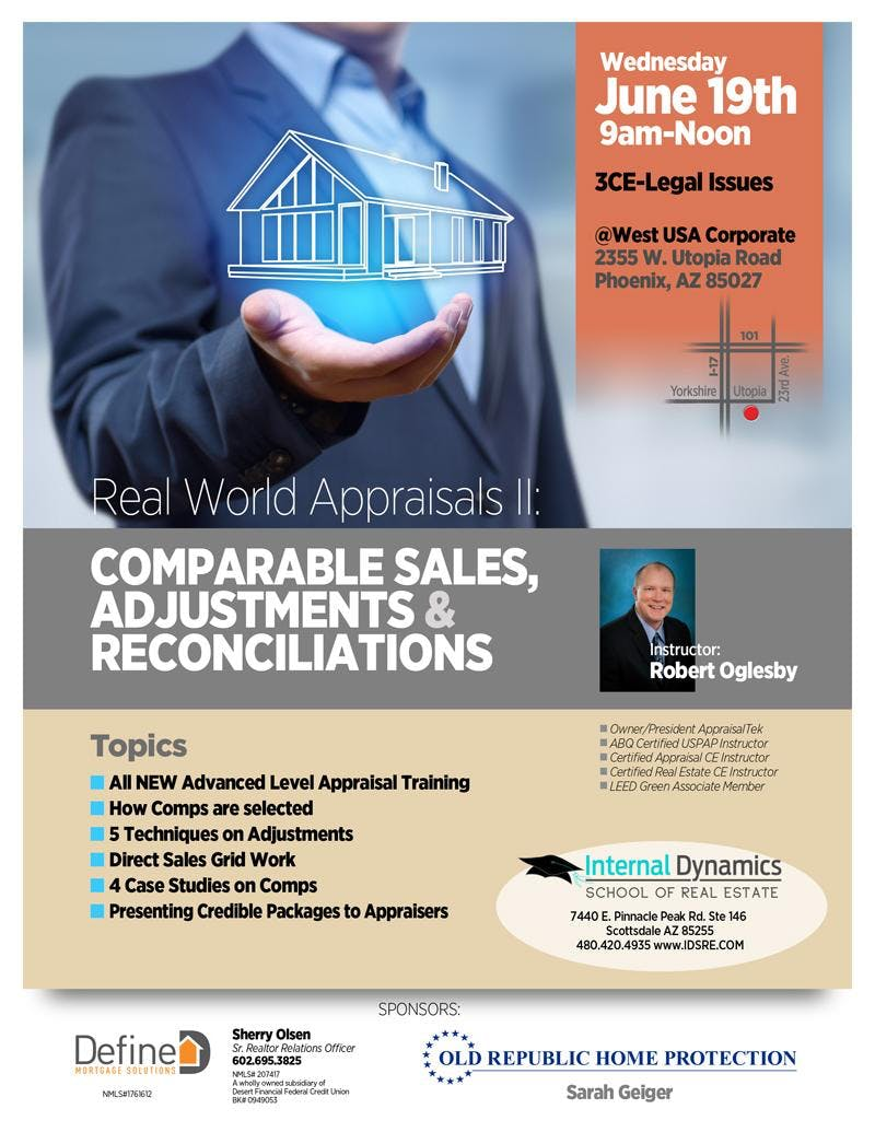 Real World Appraisals II: Comparable Sales, Adjustments & Reconciliations