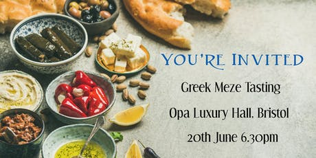 Singles Greek Meze Tasting at Opa Luxury Hall tickets