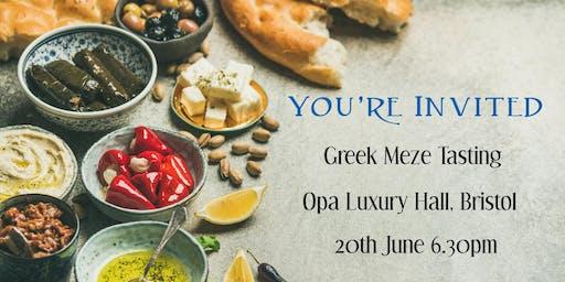 Singles Greek Meze Tasting at Opa Luxury Hall