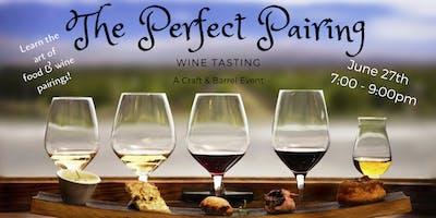 The Perfect Pairing Wine Tasting
