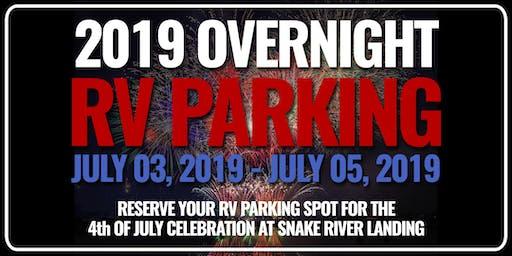 4th of July Celebration - RV Overnight Parking July 3-5, 2019