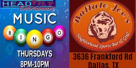 Music Bingo at Buffalo Joe's Grill & Bar - Dallas, TX tickets