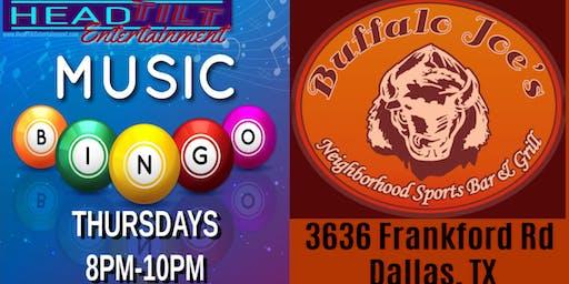 Music Bingo at Buffalo Joe's Grill & Bar - Dallas, TX