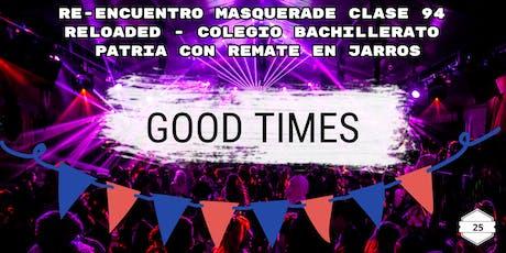 Party Prom Clase 94 Version 2.0 Reloaded Colegio  Patria $189.900 ($60US) - entradas