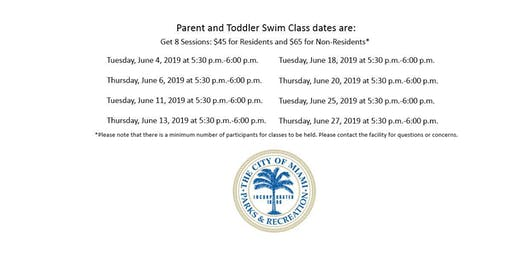 Grapeland Water Park Parent and Toddler Tuesday/Thursday (5:30PM-6:00PM)