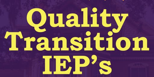 Writing Quality Transition IEP's #1