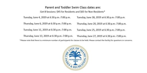 Grapeland Water Park Parent and Toddler Tuesday/Thursday (6:30PM-7:00PM)
