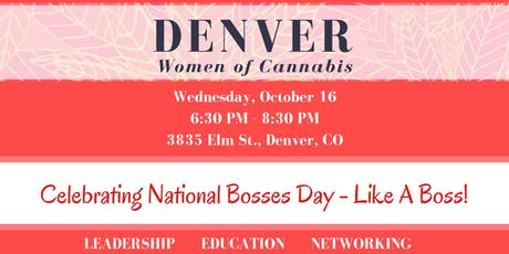 Denver Women of Cannabis - October Networking Event tickets