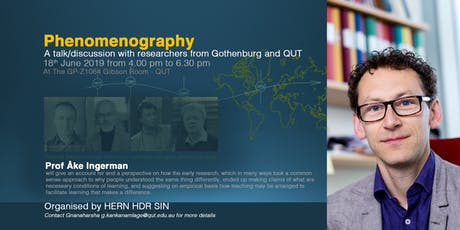 Phenomenography: A talk/discussion with researchers from Gothenburg and QUT tickets