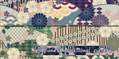 Traditional Japanese patterns with basic Zentangle drawing tickets