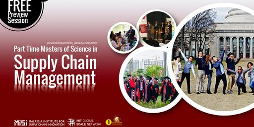 Part Time Master of Science in Supply Chain Management Preview Session