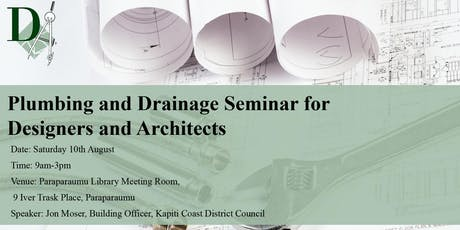 Plumbing and Drainage Seminar for Designers and Architects  tickets