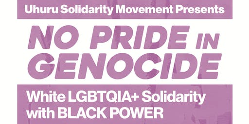 No Pride in Genocide - White LGBTQIA+ Solidarity with Black Power