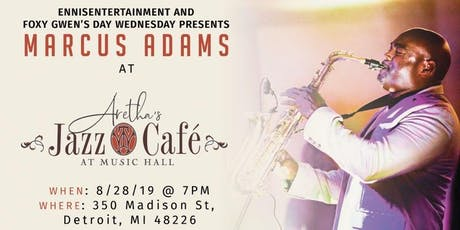 Marcus Adams at Aretha's Jazz Cafe tickets