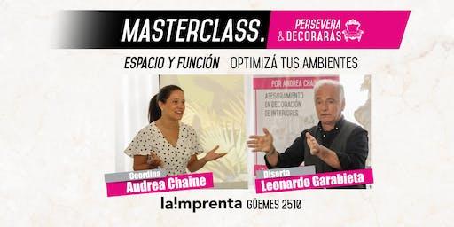MasterClass de Interiorismo. Espacio y Función