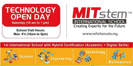 TECHNOLOGY Open Day @MITstem International School tickets