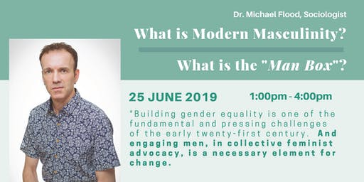 What is Modern Masculinity?  Dr. Michael Flood 25 June 2019