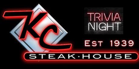 Trivia Nights' at KC Steak House tickets