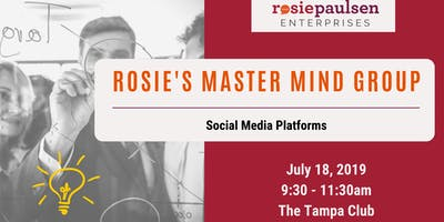 Rosie's Master Mind Group (Jul '19) - Social Media