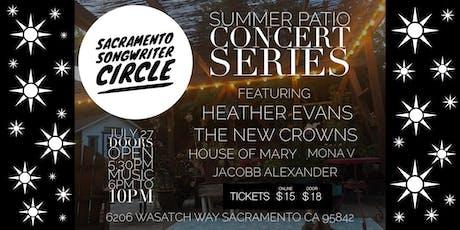 Sacramento Songwriter Circle Summer Patio Concert Series tickets
