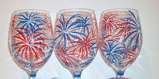 Summer Wine Glass Painting Event