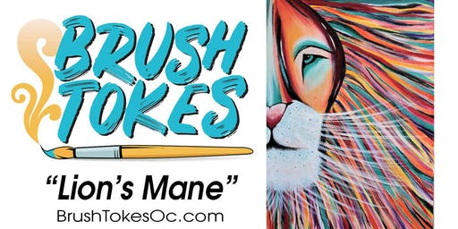 "BrushTokes All-Inclusive Paint & Sip Session ""Lion's Mane"""