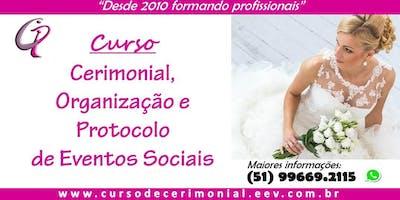 CURSO DE CERIMONIAL - São Paulo