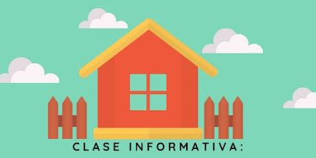 Clase Informativa: Para Primeros Compradores de Casa  boletos