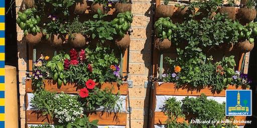 Solar powered vertical gardens
