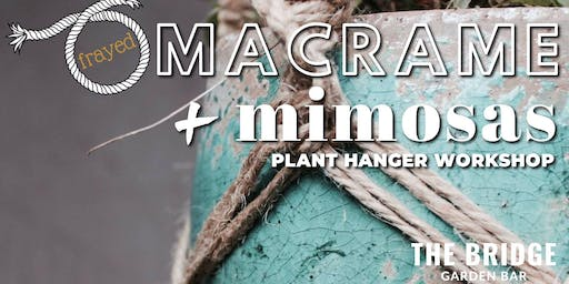 Frayed Macrame + Mimosas Plant Hanger Workshop