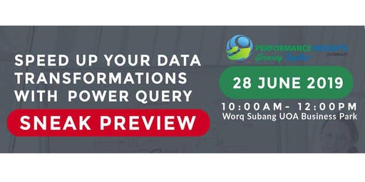 Speed Up Your Data Transformations with Microsoft Excel - Power Query