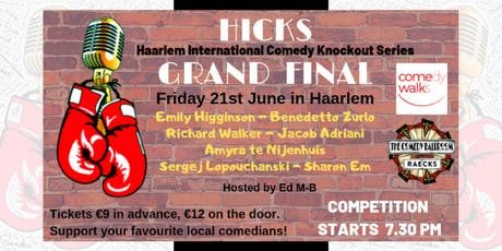 HICKS Grand Final - Holland's biggest English-language comedy competition tickets