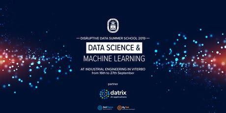 Disruptive Data Summer School 2019 - Data Science & Machine Learning biglietti