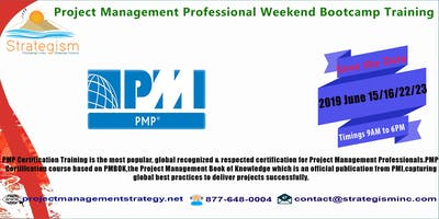 PMP weekend Bootcamp in Fremont-June 15,16,22,23,2019