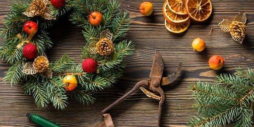 Christmas Wreath Arranging