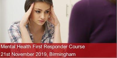 Mental Health First Responder Course - Birmingham