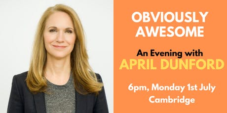 April Dunford In Cambridge: 'Obviously Awesome' Book Launch tickets