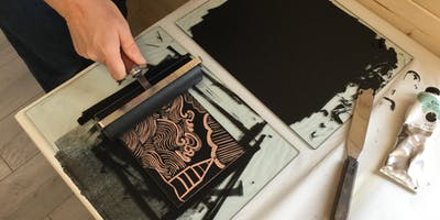 Lino cuts and printing with Helen Murgatroyd