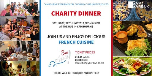 Charity dinner - Cambourne Experimental Cookery club