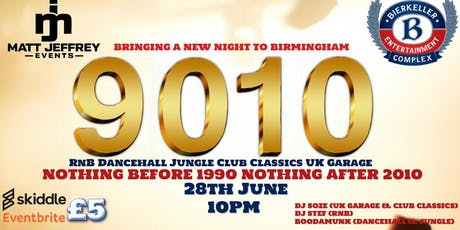 9010 ( RnB Dancehall Jungle club classic & uk Garage) tickets