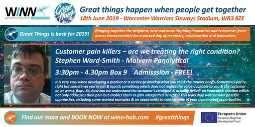 Customer pain killers - are we treating the right condition? Stephen Ward-Smith - Malvern Panalytical