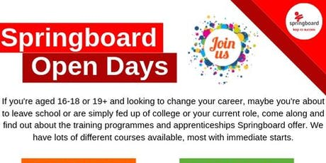 Springboard Sunderland Open Day tickets